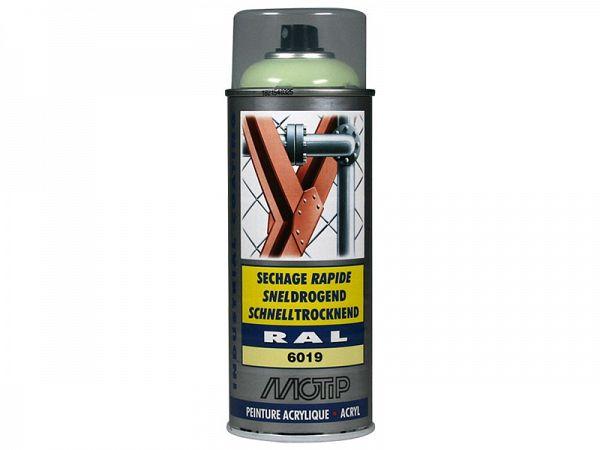 Spraymaling - MoTip Ral, 6019 high gloss white green, 400ml
