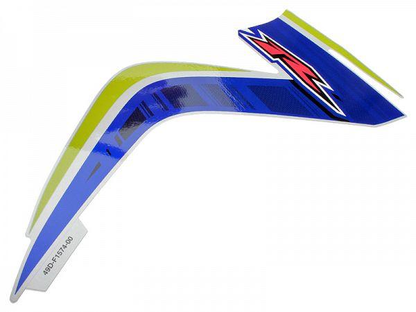 Staffering nederste frontskjold højre - blå/hvid/grøn - original