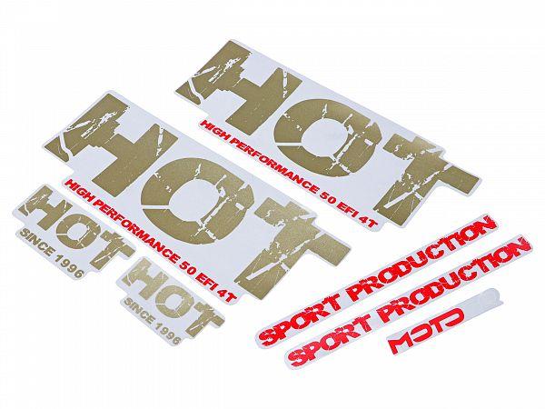 Stafferingssæt til MOTOCR Hot/Big Max - guld/rød - originalt