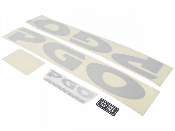Stafferingssæt til PGO BigMax/Hot50 - sølv - originalt