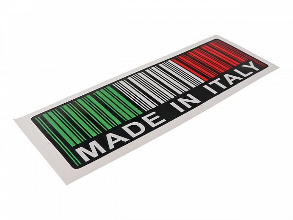 Sticker - Made In Italy 3,7x11,8 cm