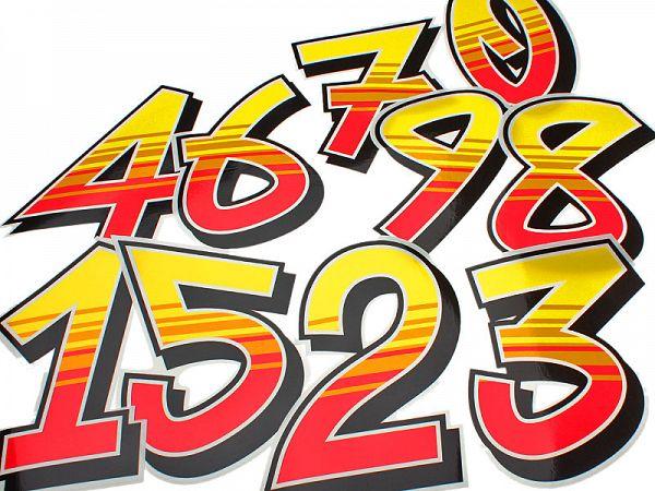 Sticker - Malossi starter numbers