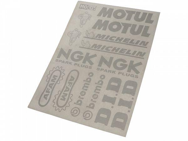 Sticker sheet - Sponsor logo sheet, silver