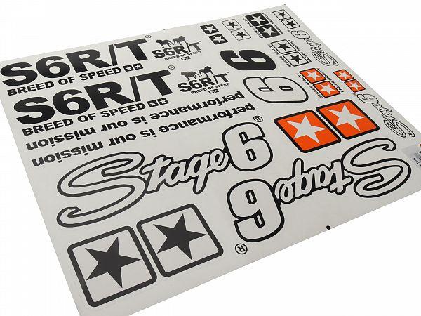 Sticker sheet - Stage6 A2 MkIII, black - 41x34 cm