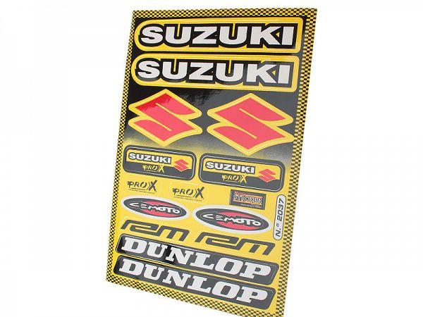 Sticker sheet - Suzuki Dunlop 32x22cm
