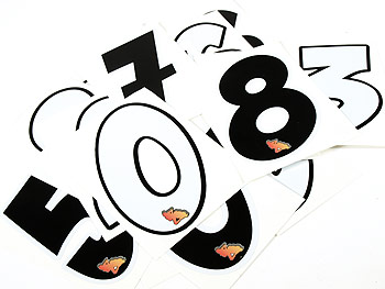 Sticker - Speedline.dk start number