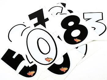 Sticker - Speedline.dk start number