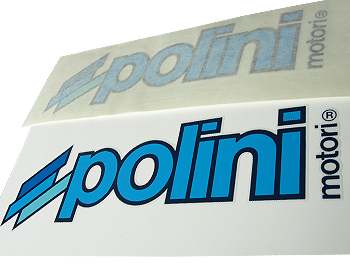 Stickers - Polini, sort, 23x8 cm