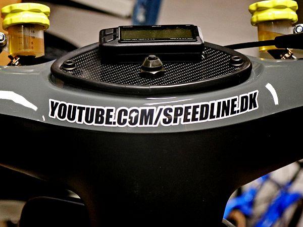 Stickers - Youtube.com/speedline.dk, curved - 18x1.5cm