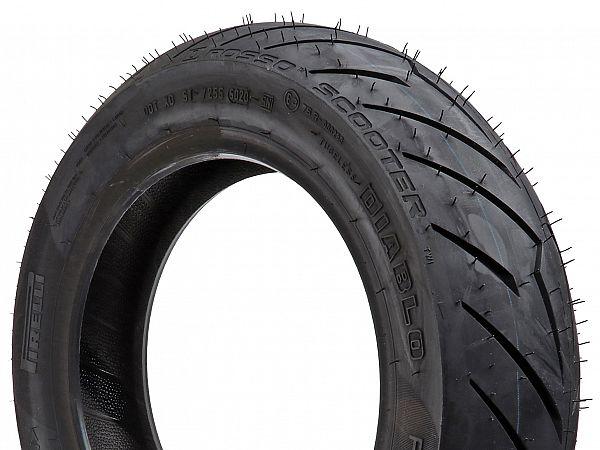 Summer tires - Pirelli Diablo Rosso Scooter - 120 / 70-12