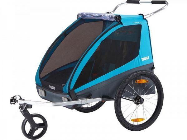 Thule Coaster XT sort/blå Cykelvogn