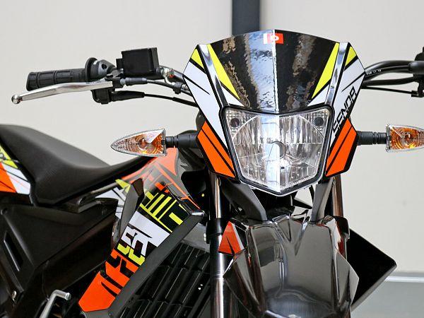 *TILBUD* Derbi Senda X-treme 50 R Euro4 - orange/sort - 30 km/t