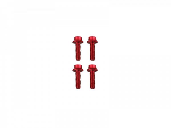Token Alu røde Bolte, M5x16mm