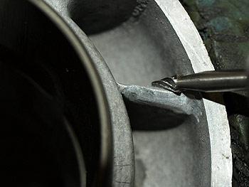 Værkstedsarbejde - Spidsning af skillevægge i cylinder