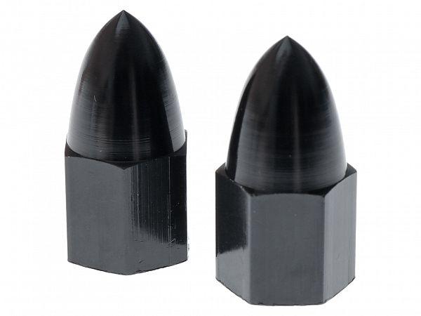 Valve caps - Bullet, black