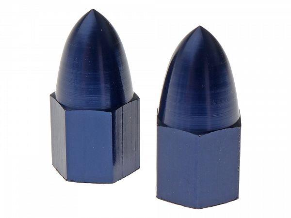 Valve caps - Bullet, blue