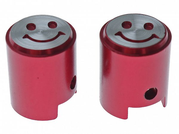 Valve caps - Piston V.2, red