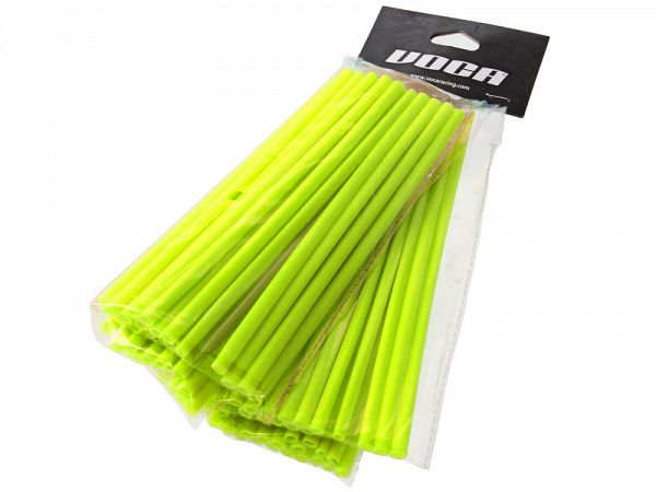 Voca Racing Spoke Skins, fluorescerende gul