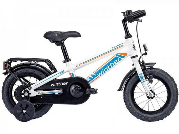 "Winther 150 Dirt 12"" hvid/blå - Børnecykel - 2015"