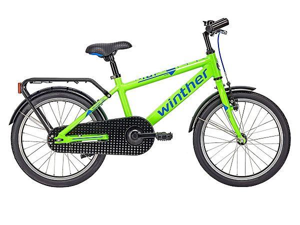 """Winther 150 Dirt 16"""" grøn - Børnecykel - 2017"""