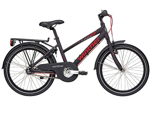 "Winther 300 Alu 20"" sort - Pigecykel - 2019"