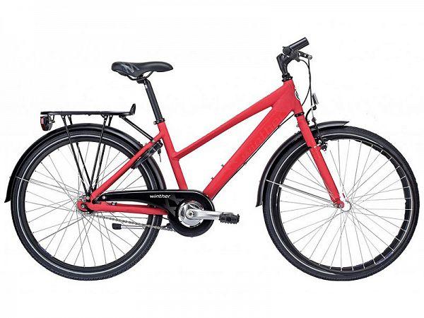"Winther 300 Alu 24"" rød - Pigecykel - 2015"