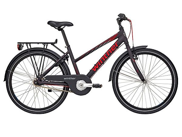 "Winther 300 Alu 24"" sort - Pigecykel - 2019"