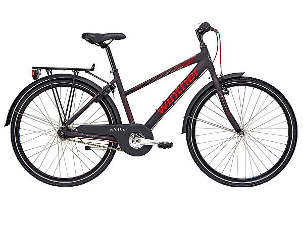 "Winther 300 Alu 26"" sort - Pigecykel - 2019"