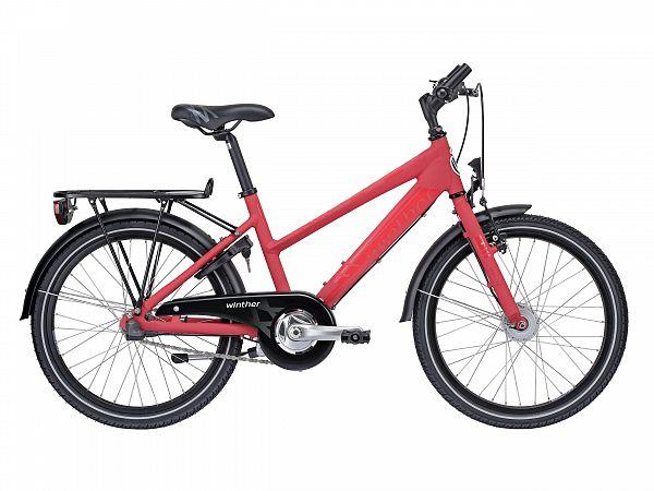 "Winther 350 Dirt 24"" rød - Pigecykel - 2015"