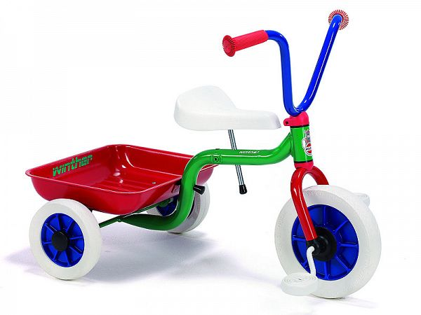 Winther Trehjulet Cykel m. tiplad - multifarvet
