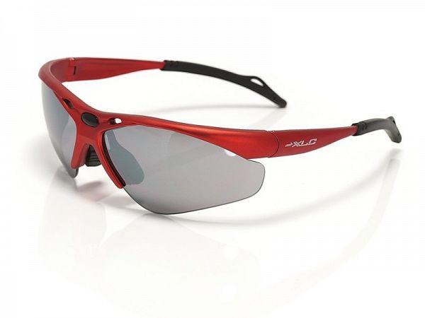 XLC Tahiti røde Solbriller, 3 Linser