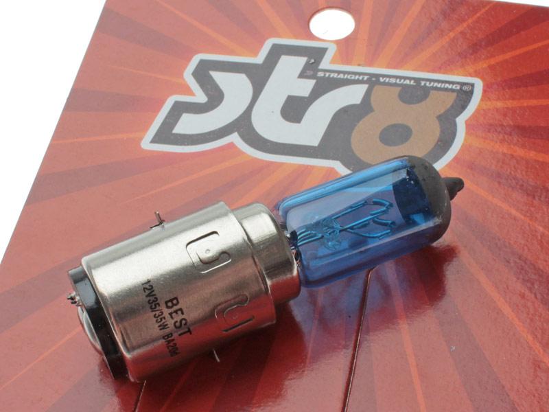 Forlygtepære - BA20D blå halogen 12V 35/35W