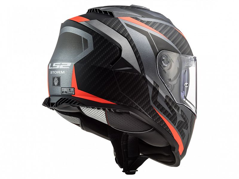 LS2 Casco FF800 Storm Racer Red Blue M