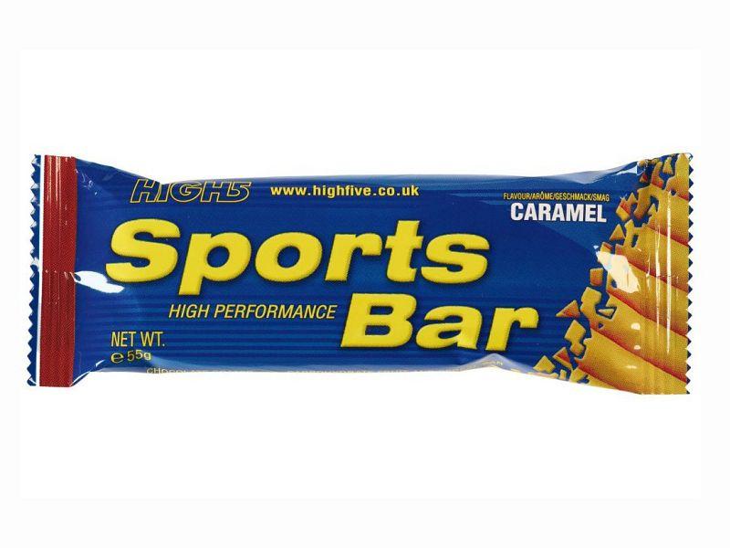 High5 Sportsbar Caramel m. Chokoladeovertræk, 55g
