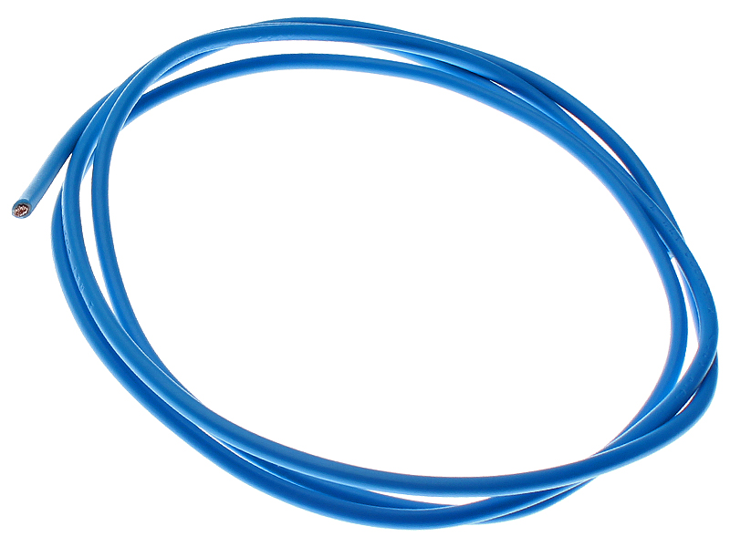 Ledning - NKT 1,5 kvadrat - 1 meter, blå