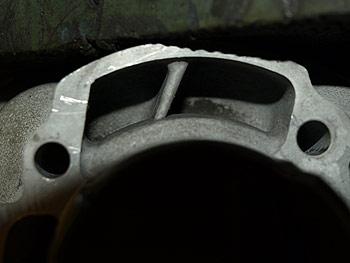Spidsning af skillevægge i cylinder